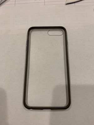 iPhone 7 Plus/ iPhone 8 Plus matte clear and grey edge case. for Sale in Everett, WA