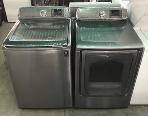 Used Samsung stainless steel washer and dryer set for Sale in Montclair, CA