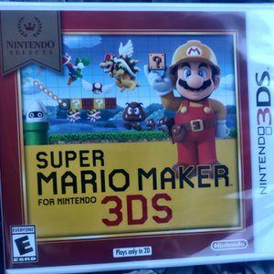 Nintendo 3DS Super Mario Maker 3DS $25.. O.B.o for Sale in San Antonio, TX