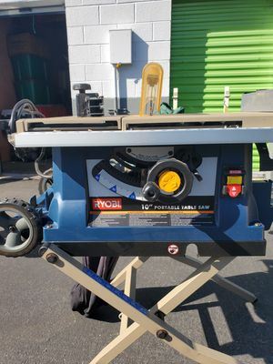 """RYOBY Portable 10"""" table saw for Sale in West Covina, CA"""