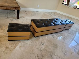 Storage ottomans bookcases nice! for Sale in Lake Worth, FL