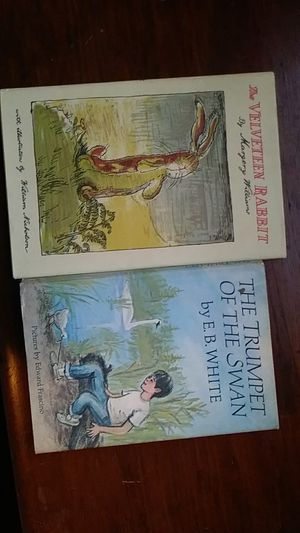 Two hard covered books ...The Velveteen Rabbit 1971. And. The Trumpet of the Swan original copyright 1970 great childrens reading of most all ages for Sale in Stoughton, MA