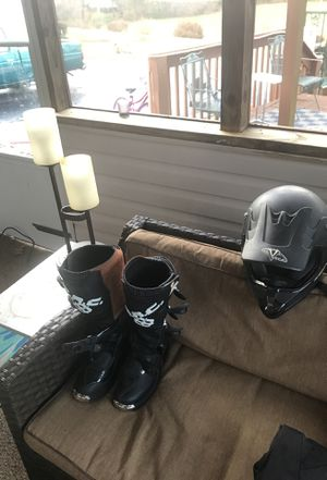 Boots and helmet for Sale in Forest, VA