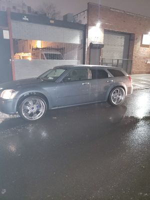22inch Chrome deep dish rims with tires for Sale in Brooklyn, NY