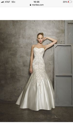Mori Lee ivory wedding dress size 8 for Sale in Hudson, FL