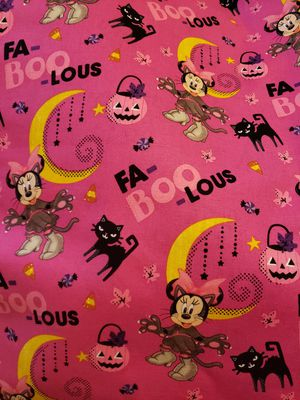 Halloween Minnie Mouse fabric 1yd for Sale in Hainesport, NJ