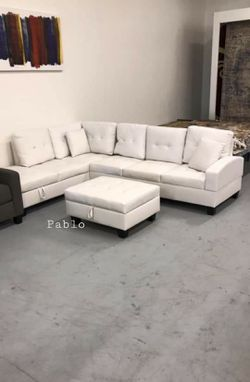 🎗39$ Down Payment🎗Pablo White Sectional for Sale in Alexandria,  VA