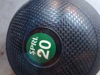 Slam Exercise Ball Rubber SPRI 20lb for Sale in Atlanta,  GA