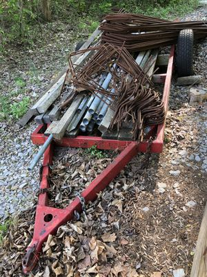 Heavy duty trailer frame from previous camper trailer. for Sale in Georgetown, IN