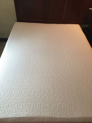 Bed frame 80$ or best offer and brand new memory foam mattress full size 100$ for Sale in Scotia, NY