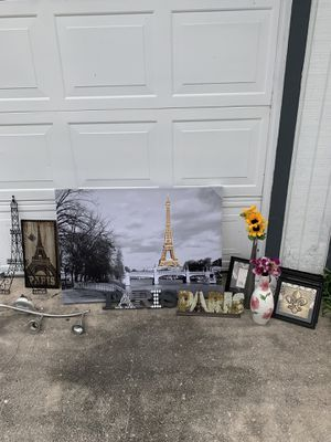Paris theme home decor for Sale in San Antonio, TX
