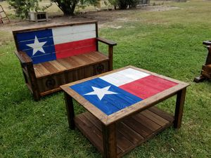 Benches, rustic wood works, kids kitchens, coffee tables, drink tables for sides of benches. for Sale in Mercedes, TX
