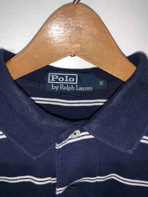 Men's Ralph Lauren Polo shirt. Size: L, Color: Navy Blue & White, Design: Polo Rugby for Sale in Silver Spring, MD
