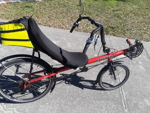 Bacchetta Giro 20 Like New Recumbent 27 speed bike. for Sale in Wesley Chapel, FL