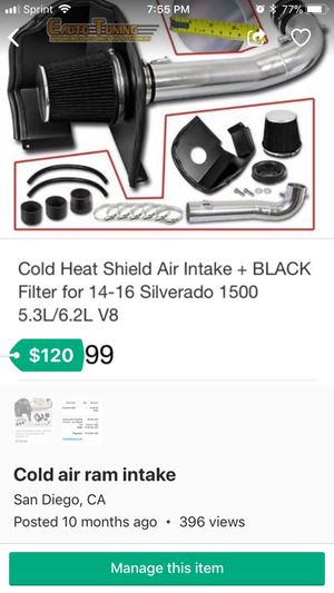 Cold air intake for Sale in San Diego, CA
