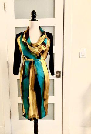 Italian designer printed silk dress Romebas size M for Sale in Miami, FL