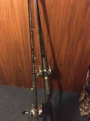Penn senator 9/0 fishing reels and rods for Sale in Port Arthur, TX