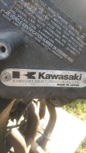 Motorcycle engine for a Kawasaki for Sale in Lindsay, CA