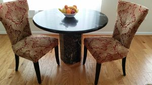 Marble Kitchen table and two chairs for Sale in Ashburn, VA