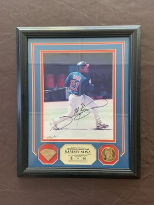 Autographed Sammy Sosa Signed Frame for Sale in Lockport, IL