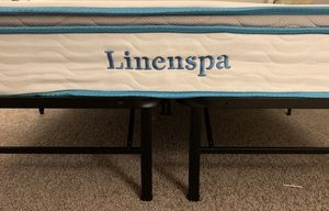 Queen LinenSpa Mattress and Bed Frame for Sale in Atlanta, GA