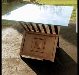 Gorgeous Solid Brass And Glass End Table for Sale in Silver Spring,  MD