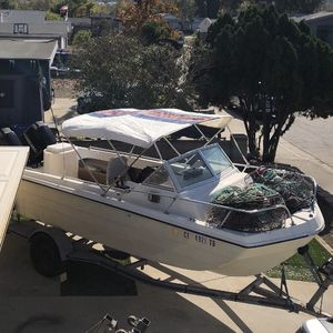 19ft Fishing Boat Twin Outboards for Sale in Santee, CA