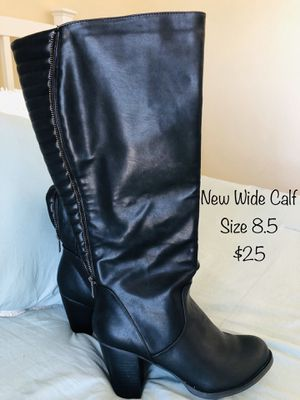 Cute Wide Calf Boots ~ Size 8.5 for Sale in Denver, CO