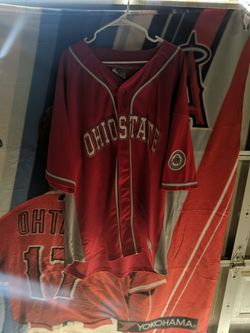 Ohio State Buckeyes Baseball Jersey Number 10 Coliseum College Equipment Size Extra Extra Large Very Nice College Baseball Jersey for Sale in Bakersfield,  CA