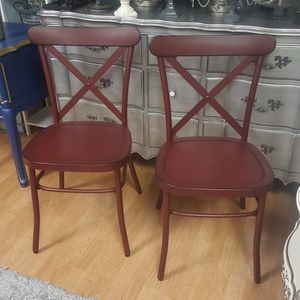 2 Large Farm French Industrial Chairs for Sale in Oklahoma City, OK