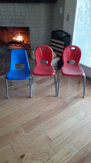 Kids chairs $5 each. 89103. Take all 3 for $10 for Sale in Las Vegas, NV