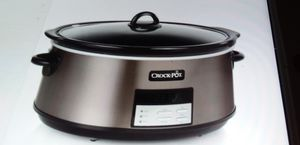 Extra Large Black Stainless 8 qt. PROGRAMMABLE CROCK POT for Sale in Miami, FL