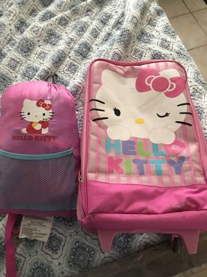 Hello Kitty sleeping bag and suitcase for Sale in Sunrise, FL