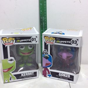 Funko Pop Muppets No. 1 Kermit And No.3 Gonzo New In Their Boxes 2012 for Sale in Carpentersville, IL
