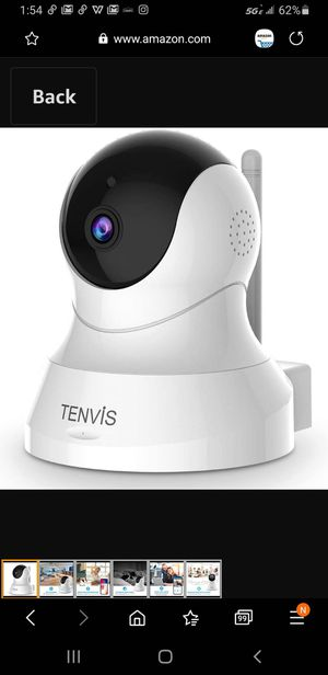 TENVIS Security Camera- Wireless Camera, IP Camera with Night Vision/ Two-way Audio, 2.4Ghz Wifi Indoor Home Dome Camera for Pet Baby, Remote for Sale in Las Vegas, NV