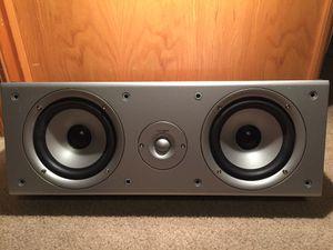 POLK AUDIO CS2 Center Channel Speaker - Black Oak Vinyl - Titanium for Sale in Clackamas, OR