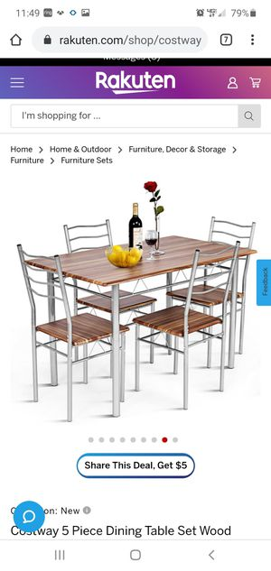 New 5 pc dining table for Sale in Corona, CA