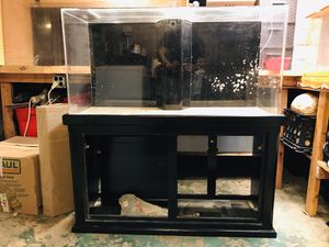 90 gallon acrylic fish tank aquarium with overflow and stand for Sale in Rosemont, IL