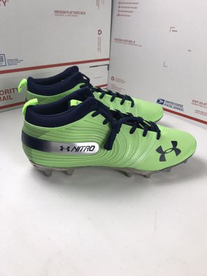 New No Box Under Armour Cleats Football Green Blue Seahawk Colors Size 16 for Sale in French Creek, WV