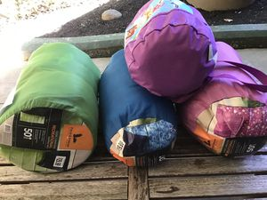 6 Sleep bag (3 adult 77X55, blue, green and pink and 3 infant, pink, frozen pink and blue) for Sale in Brookline, MA