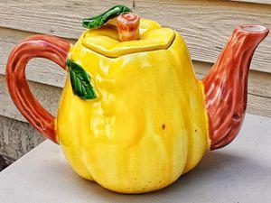 Vintage 1950s MADE IN JAPAN fruit lemon ceramic teapot no damage PY imports for Sale in Saginaw, MI