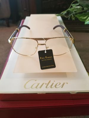 Cartier clear aviator style glasses very classy for Sale in Cleveland, OH