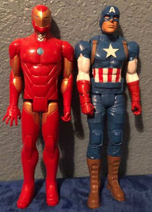 "11"" Marvel Captain America and Iron Man action figures for Sale in Glendale, AZ"