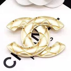 Classic Fashion CC Gold Plated Brooch for Sale in Newark,  CA