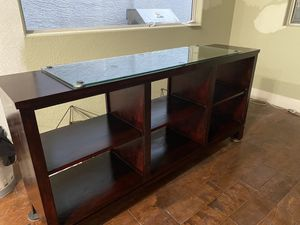 Ethan Allen Double Sided Console Table- with Glass Protective Top for Sale in Phoenix, AZ