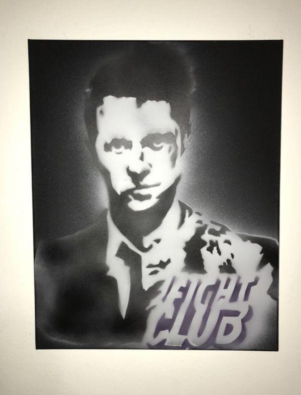 Fight Club 16x20 Graffiti Canvas