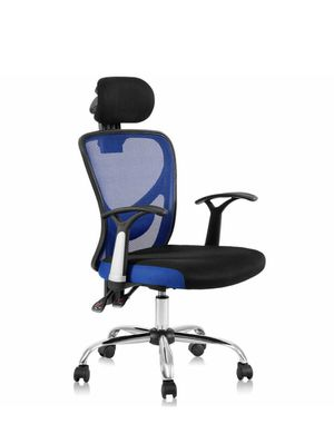 Ergonomic Mesh High Back Office Chair With Headrest-Blue HW56004NY for Sale in Corona, CA
