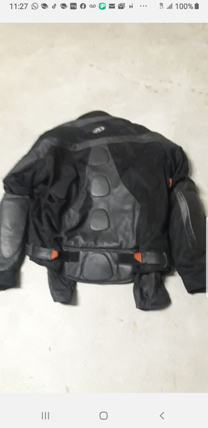 MEN ARMOURED LEATHER MOTORCYCLE JACKET BLACK for Sale in Orlando, FL