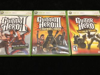 Guitar Hero Games For Xbox 360 - PRICE FIRM for Sale in Portland,  OR