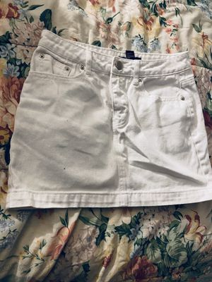 White jean skirt - S for Sale in Fairfax, VA